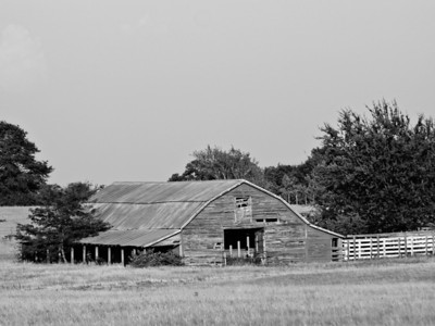 B&W Old Barn - Yantis, Texas